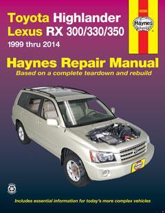 Toyota HighLander (01-14) & Lexus RX 300/330/350 (99-14) Haynes Repair Manual