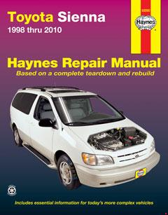 toyota sienna (98-10) haynes repair manual � fuse box
