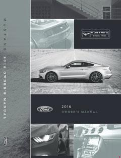 2016 Ford Mustang Owners Manual