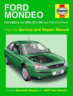 ford mondeo petrol & diesel (oct 00 - jul 03) haynes repair manual