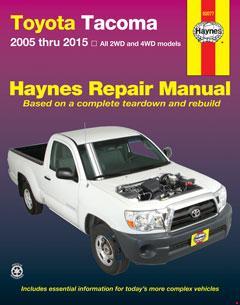 toyota tacoma (05-15) haynes repair manual � fuse box