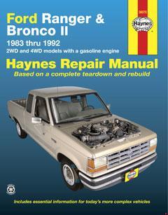 ford ranger & bronco ii 2wd & 4wd gas models (83-92) haynes � fuse box