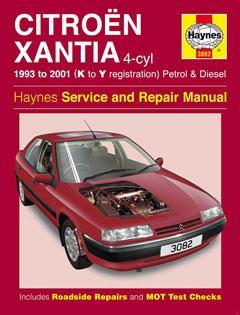 Citroen Xantia Petrol & Diesel (93 - 01) Haynes Repair Manual