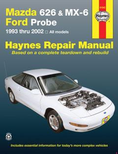 mazda 626, mx-6 & ford probe covering mazda 626 (93-02 � fuse box diagram �