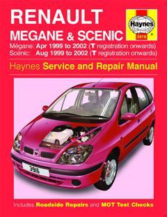 renault megane & scenic petrol & diesel (apr 99 - 02) haynes repair manual  � fuse box