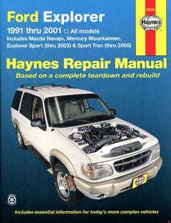 Ford Explorer & Mazda Navajo covering Ford Explorer & Mazda Navajo (91-01), Mercury Mountaineer (97-01), Explorer Sport (00-03), & Explorer Sport Trac (01-05) Haynes Repair Manual