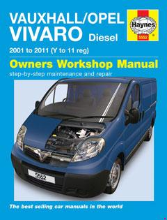 vauxhall/opel vivaro diesel (01 - 11) haynes repair manual � fuse box