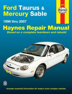 ford taurus & mercury sable (96-07) haynes repair manual � fuse box diagram  �