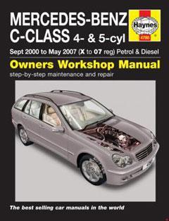 mercedes-benz c-class petrol & diesel (sept 00 - may 07)
