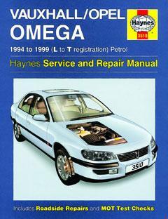 Opel/Vauxhall Omega B fuse box diagram (1994–2003)