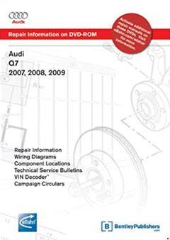Audi Q7 2007, 2008, 2009: Repair Manual on DVD-ROM
