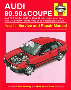 audi 80, 90 & coupe petrol (oct 86 - 90) haynes repair manual · fuse box