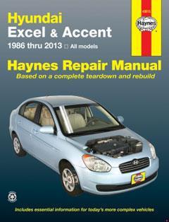 hyundai excel (86-94) & accent (95-13) haynes repair · fuse box