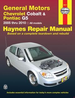 General Motors Chevrolet Cobalt (05-10), Pontiac G5 (07-09) & Pontiac Pursuit (05-06) Haynes Repair Manual