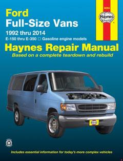 Ford full-size E-150-E-350 petrol vans (92-14) Haynes Repair Manual