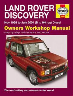 land rover discovery diesel (nov 98 - jul 04) haynes repair manual