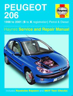 Peugeot 206 Petrol & Diesel (98 - 01) Haynes Repair Manual