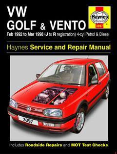 1991-1997 Volkswagen Golf Mk3 Fuse Box Diagram