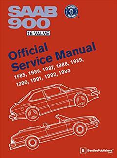 saab 900 16 valve official service manual: 1985, 1986, 1987, 1988,