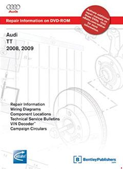 audi tt 2008, 2009: repair manual on dvd-rom � fuse box