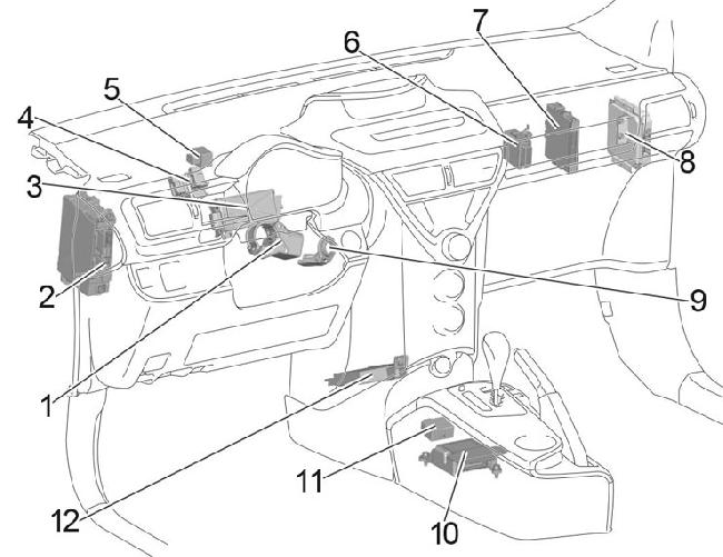 2008-2015 Toyota iQ Fuse Box Diagram