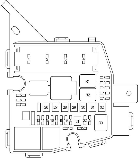 2005 toyota fuse box diagram