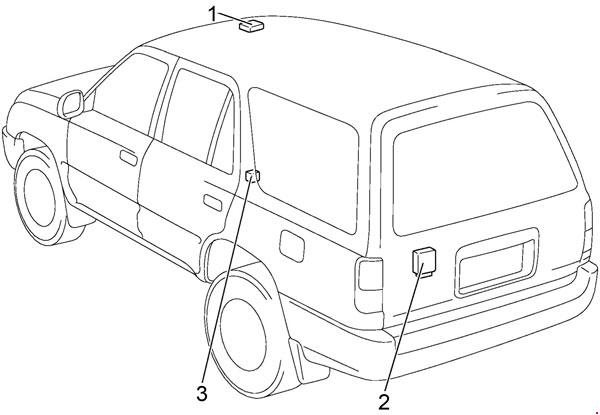 1996 2002 Toyota 4runner Fuse Box Diagram Fuse Diagram