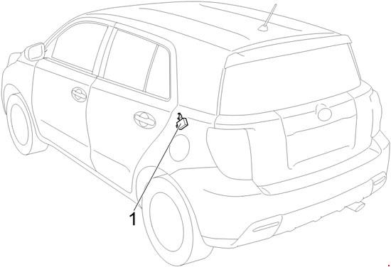 2008 U20132014 Toyota Urban Cruiser    Scion Xd Fuse Box Diagram