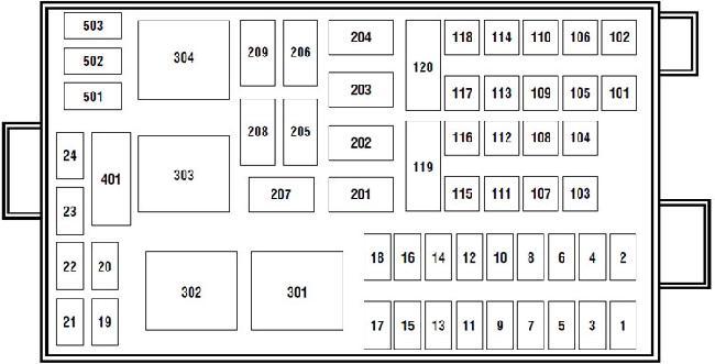 04-'10 Ford F650, F750 Fuse Diagram | Ford F650 Super Duty Fuse Diagram |  | knigaproavto.ru