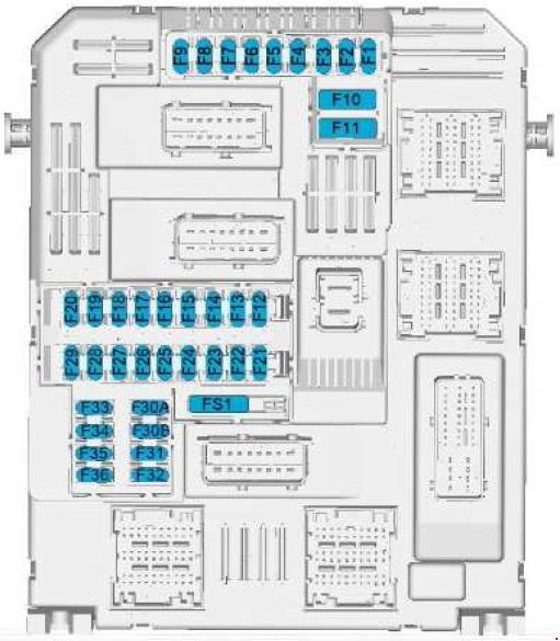 Toyota ProAce Fuse Box Diagram