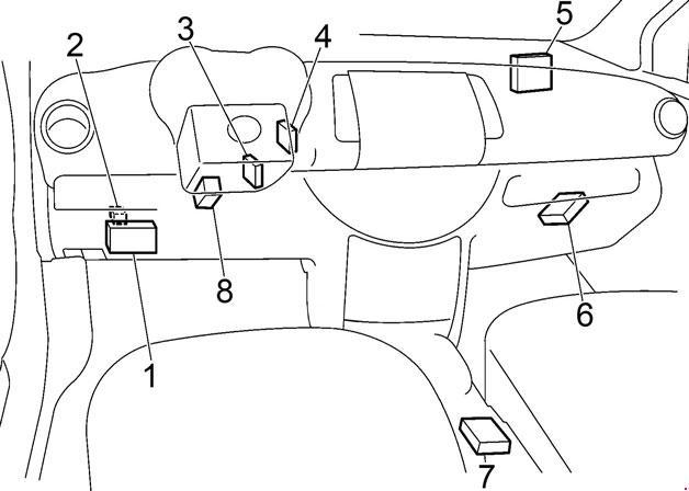 2004-2013 Nissan Note (E11) Fuse Box Diagram