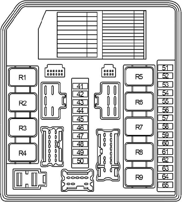 2004-2013 nissan note (e11) fuse box diagram