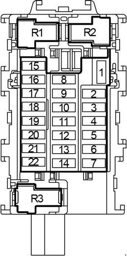 13-'18 Nissan Versa Note Fuse Box Diagram | 2014 Nissan Versa Fuse Panel Diagram |  | knigaproavto.ru