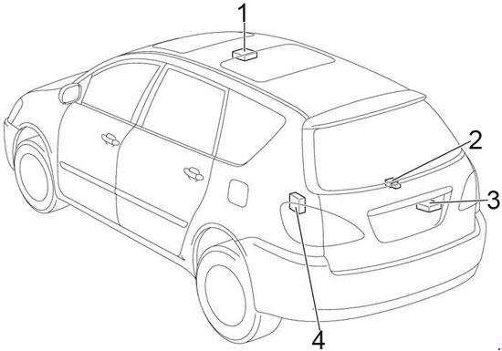 2001 2009 Toyota Ipsum Avensis Verso Picnic Fuse Box Diagram