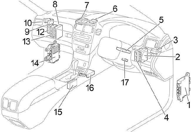 00-'06 Lexus LS 430 Fuse Box Diagram | 2003 Lexus Ls 430 Engine Diagram |  | knigaproavto.ru