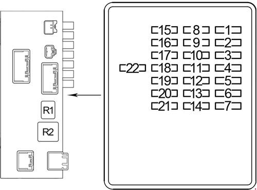00-'06 lexus ls 430 fuse box diagram  knigaproavto.ru