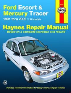 ford escort & mercury tracer (91-02) haynes repair manual � fuse box diagram  �