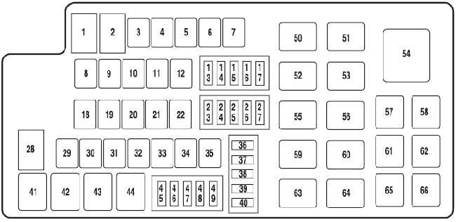 09-'12 Lincoln MKS Fuse Box Diagramknigaproavto.ru