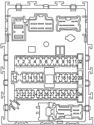 2000-2006 nissan sentra fuse box diagram
