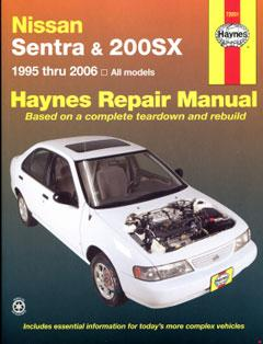 nissan sentra & 200sx (95-06) haynes repair manual � fuse box
