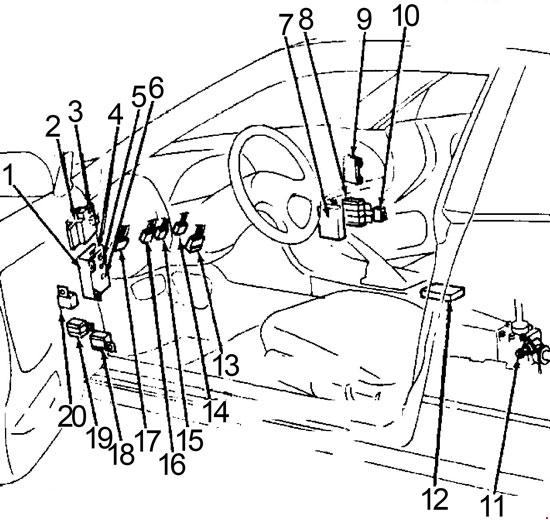 1989-1994 Nissan 240SX Fuse Box Diagram
