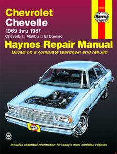 chevrolet chevelle, malibu & el camino (69-87) haynes repair manual � fuse  box