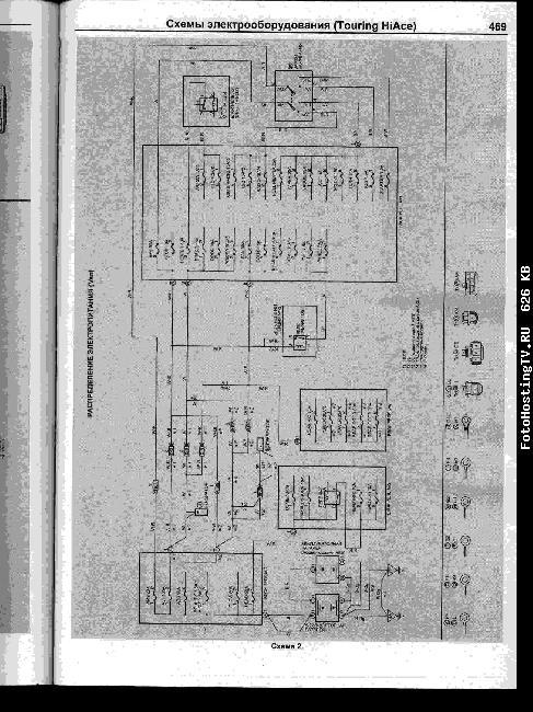 Схемы электрооборудования TOYOTA REGIUS 1997-1999 / HIACE 1995-2006