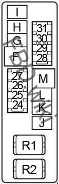 '04-'09 Nissan Quest (V42) Fuse Box Diagram