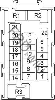 Схема предохранителей и реле Nissan Juke (2010-2017)
