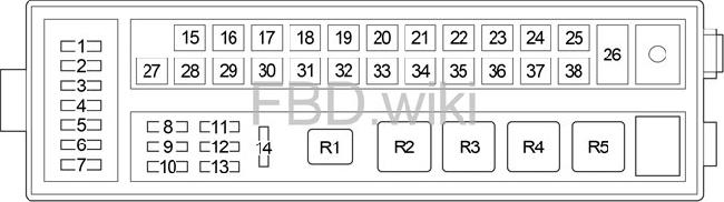 06 13 Lexus IS    250     300  350  220d Fuse Box    Diagram