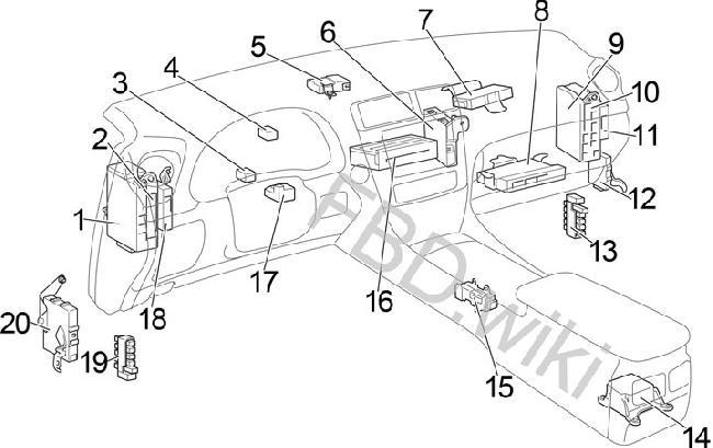 2006-2013 Lexus IS 250, 300, 350, 220d Fuse Box Diagram