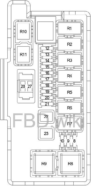 2004-2009 dodge durango fuse box diagram