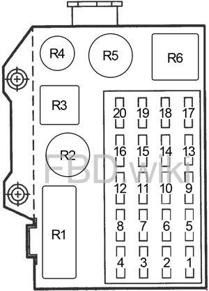 Схема предохранителей Dodge Dakota (1991-1996)