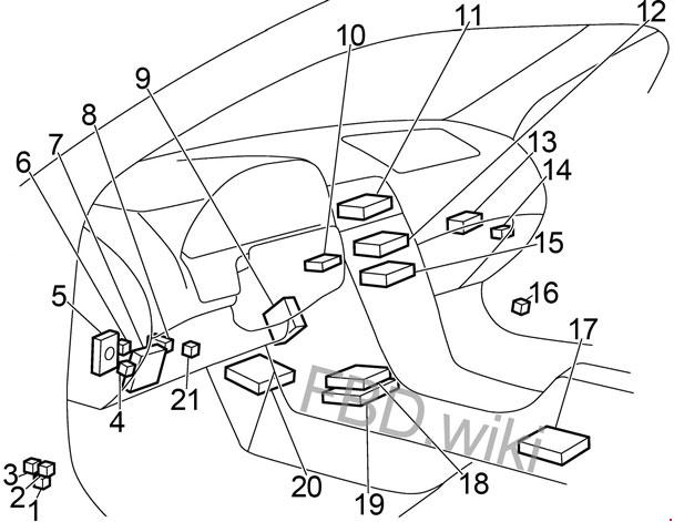 99-'03 Nissan Maxima A33 Fuse Box Diagram | 99 Maxima Engine Diagram |  | knigaproavto.ru